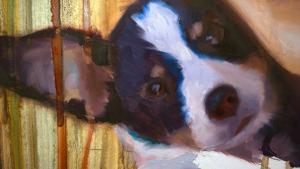 Painting A Puppy in Under Two Minutes Speed Painting Tutorial Video