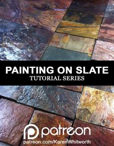 Painting TUTORIAL Learn how to paint on natural slate stone